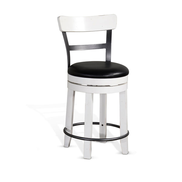 Carriage House Swivel Stool with Back Front View