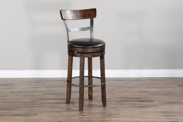 Sunny Designs Tobacco Leaf Stool - Available in Bar or Counter Height