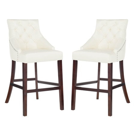 Eleni Tufted Wing Back Back Bar Stool (Set of Two) -  Available in Multiple Colors