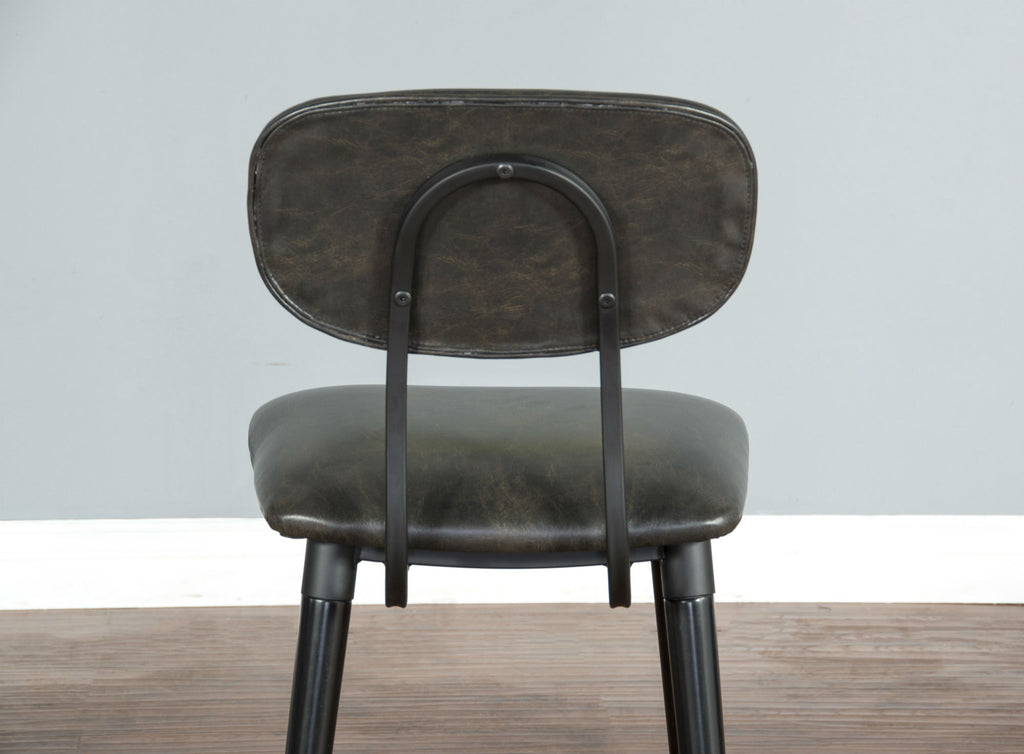 "Black Bar Stool - 24"" Seat Height Back Detail View"