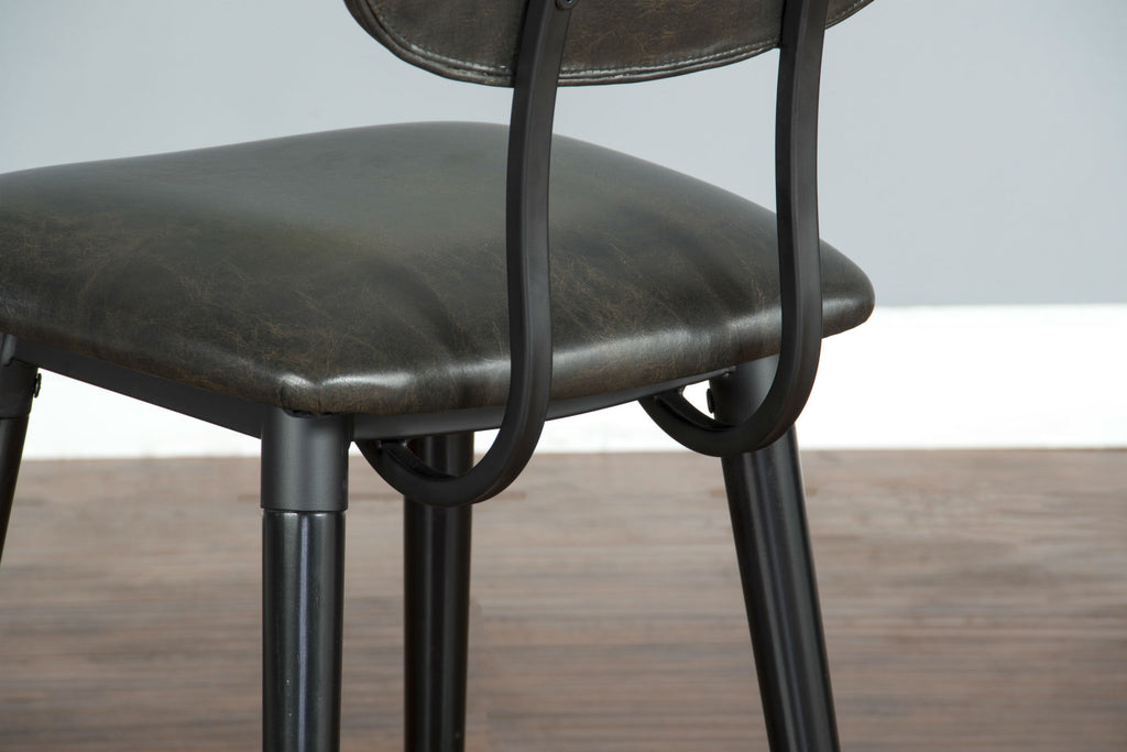 "Black Bar Stool - 24"" Seat Height Chair Detail View"