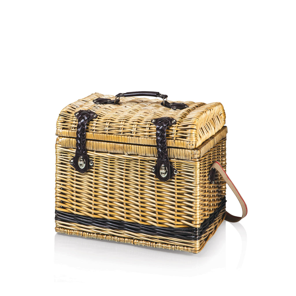 Picnic Time Moka Collection Barrel Picnic Basket - Perfect Home Bars