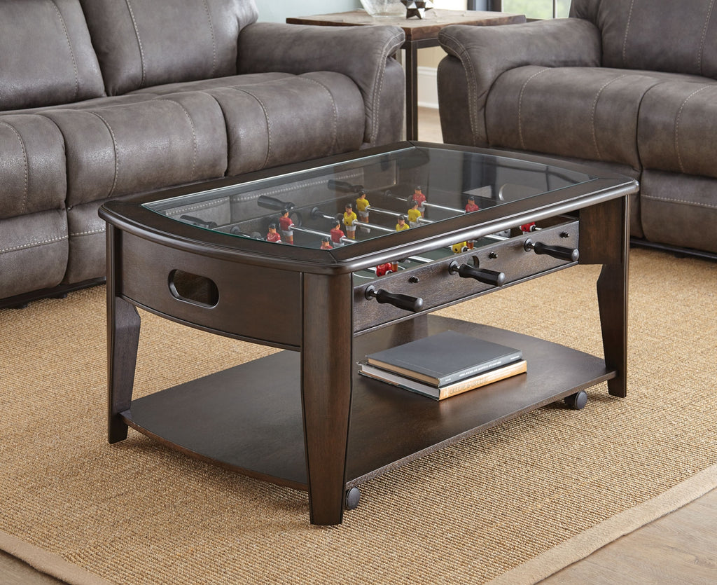 Steve Silver Diletta Cocktail Table with Foosball - Perfect Home Bars