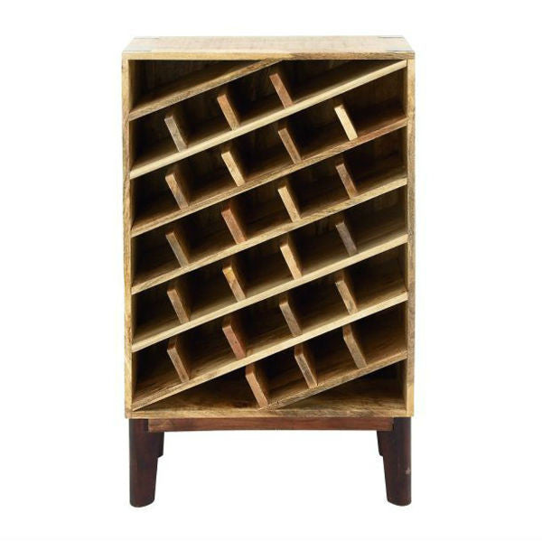 Benzara/Woodland Imports Functional Wood Wine Rack