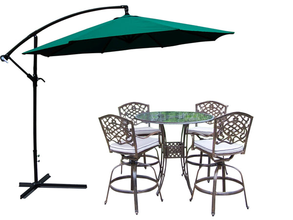 Oakland Living Hummingbird Mississippi Aluminum 6 Pc. Swivel Bar Set