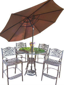 Oakland Living Hummingbird Mississippi Aluminum 7 Pc. Swivel Bar Set.