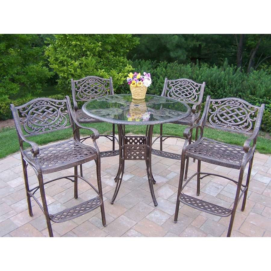 Oakland Living Hummingbird Mississippi Cast Aluminum 5 Pc. Bar Set - Perfect Home Bars