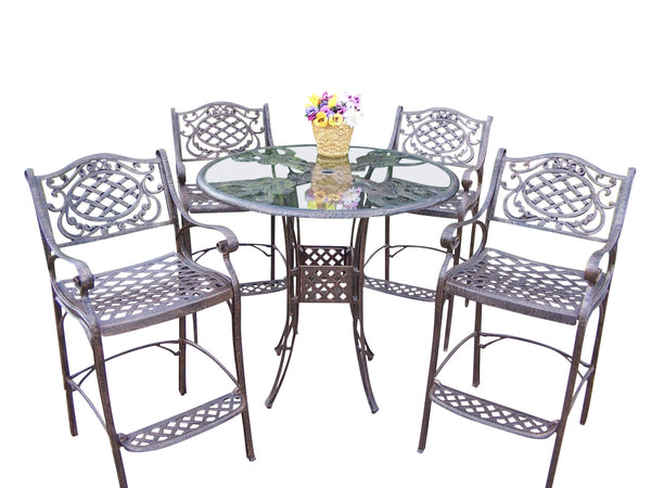 Oakland Living Hummingbird Mississippi Cast Aluminum 5 Pc. Bar Set