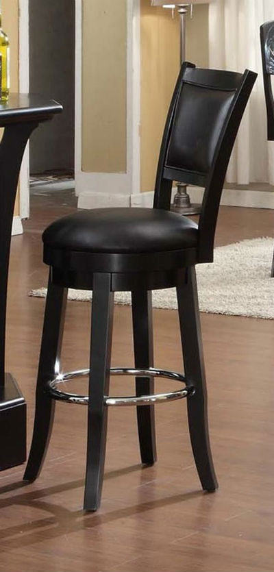 Godard Bar Stool With Passed Out Olive Logo Side Live View