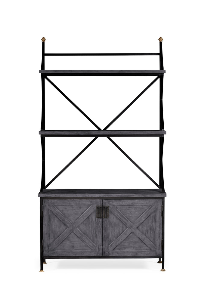 Jonathan Charles Antique Grey Baker's Rack Ätagere - Perfect Home Bars