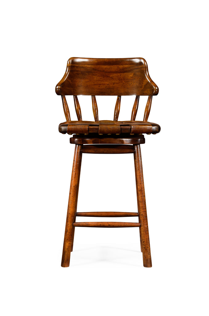 Jonathan Charles Country Style Leather Bar & Counter Stools - Perfect Home Bars