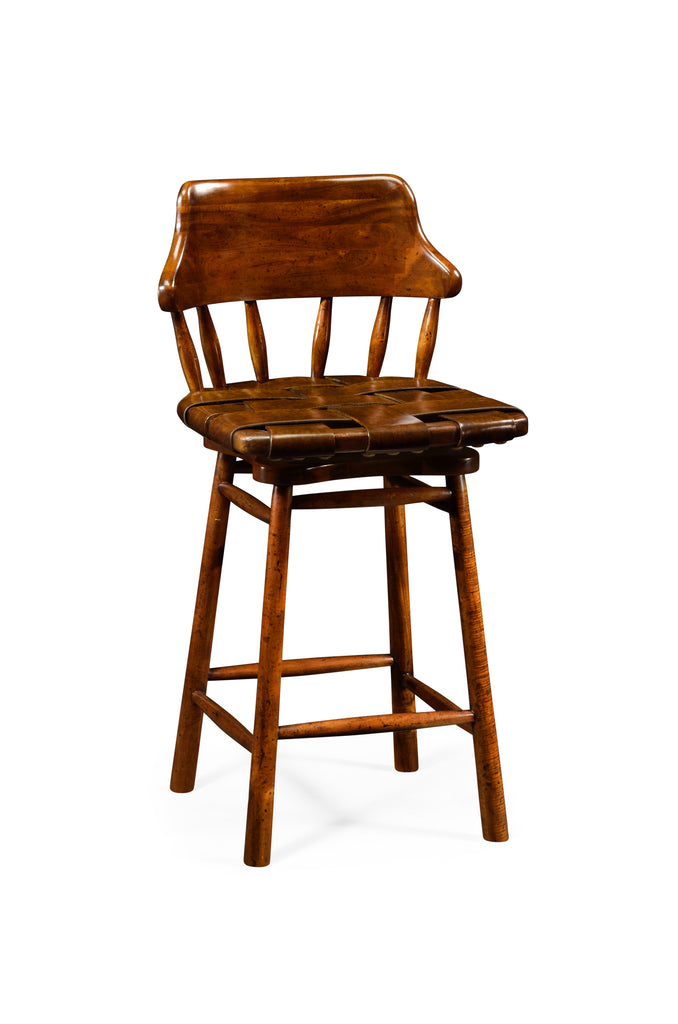 Jonathan Charles Country Style Leather Bar & Counter Stools