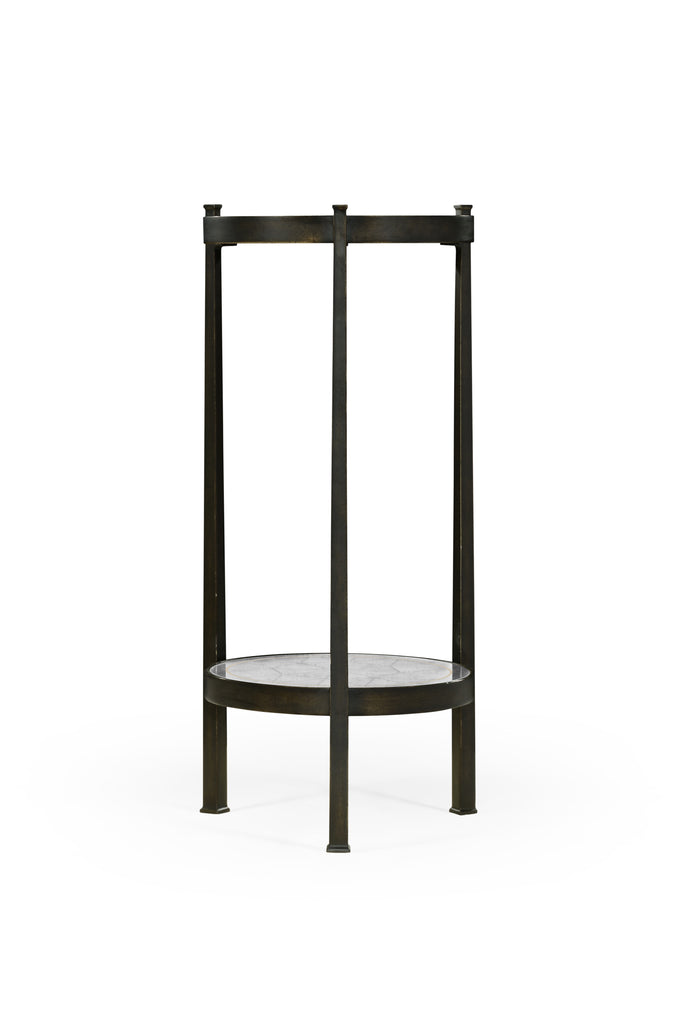 Jonathan Charles âglomisÄ & Iron Wine Table Available in Bronze or Gilded - Perfect Home Bars