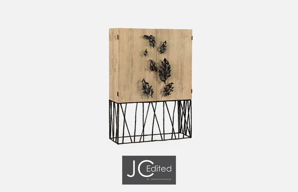 Jonathan Charles Falling Leaves Drinks Cabinet - Perfect Home Bars
