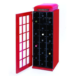 Benzara/Woodland Imports Old Fashioned Phone Booth Wine Cabinet - Perfect Home Bars