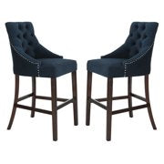 Eleni Tufted Wing Back Bar Stool Front View