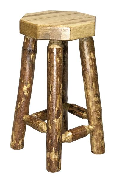 Montana Woodworks Glacier Country Collection Backless Wood Bar Stool - Perfect Home Bars