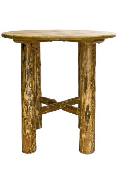 Montana Woodworks Glacier Country Collection Wood Bistro Table - Perfect Home Bars