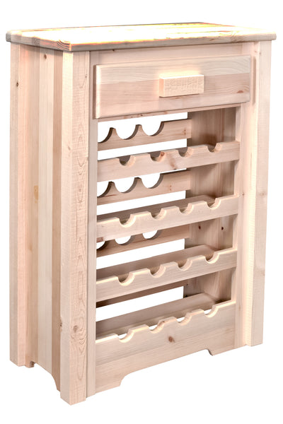 Montana Woodworks Homestead Collection Wood Wine Cabinet - Perfect Home Bars