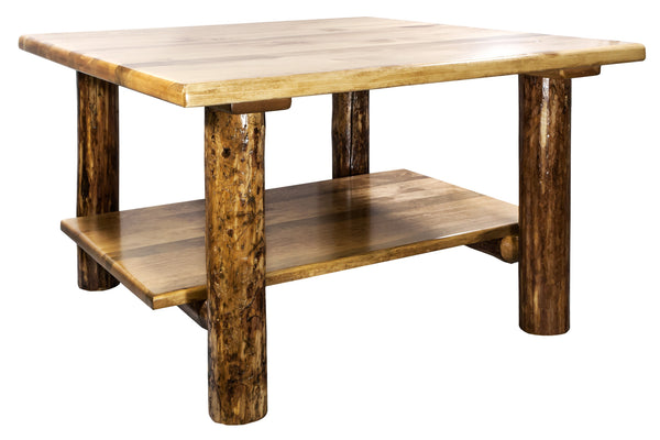 Montana Woodworks Glacier Country Collection Cocktail Table w/ Shelf - Perfect Home Bars