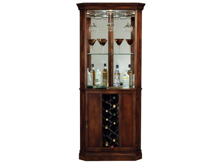 Howard Miller Piedmont Corner Wine Cabinet and Bar - Perfect Home Bars