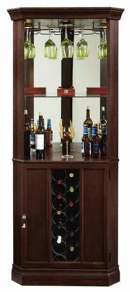 Howard Miller Piedmont III Corner Wine Cabinet and Bar - Perfect Home Bars