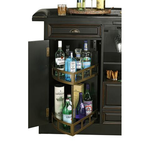 Howard Miller Northport Home Bar Open Drawer View