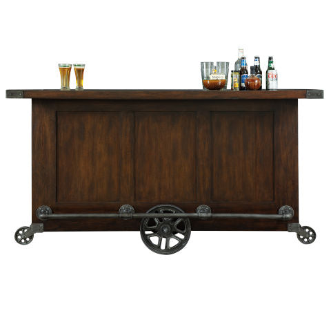 Howard Miller Beverage Trolley Bar Back View