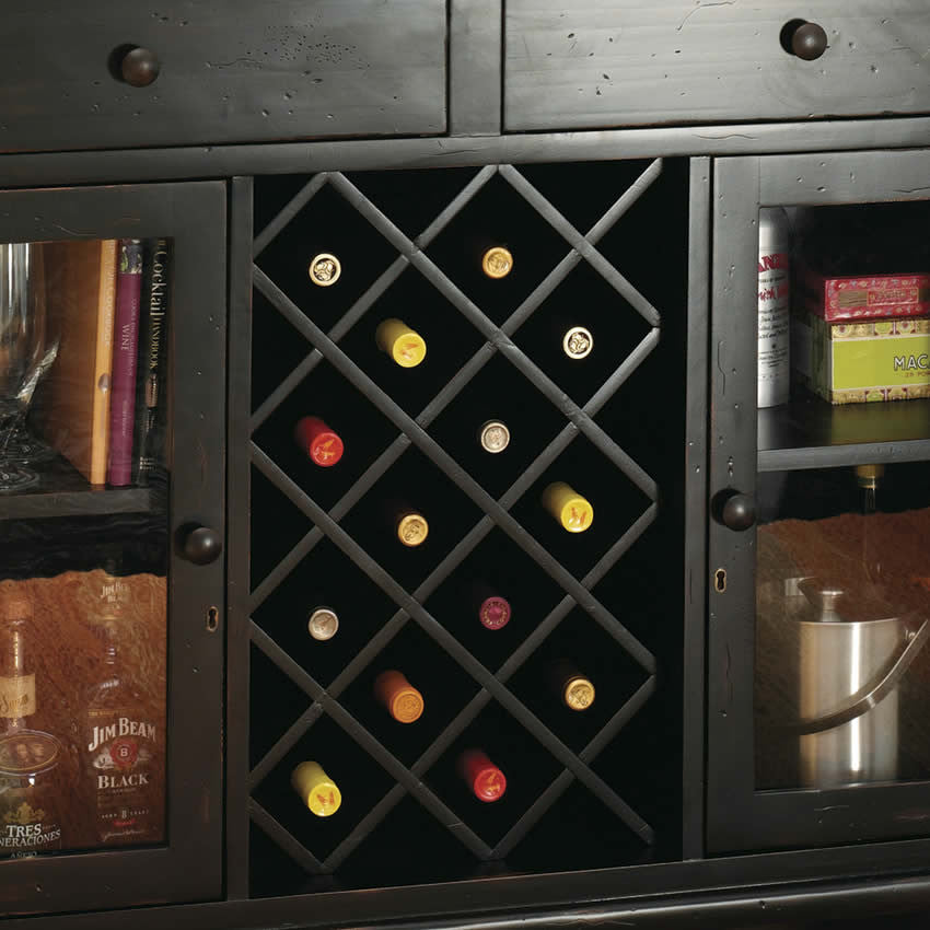 Howard Miller Cabernet Hills Wine and Bar Cabinet - Perfect Home Bars
