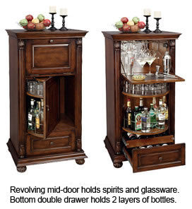 Howard Miller Cognac Wine Cabinet and Bar - Perfect Home Bars