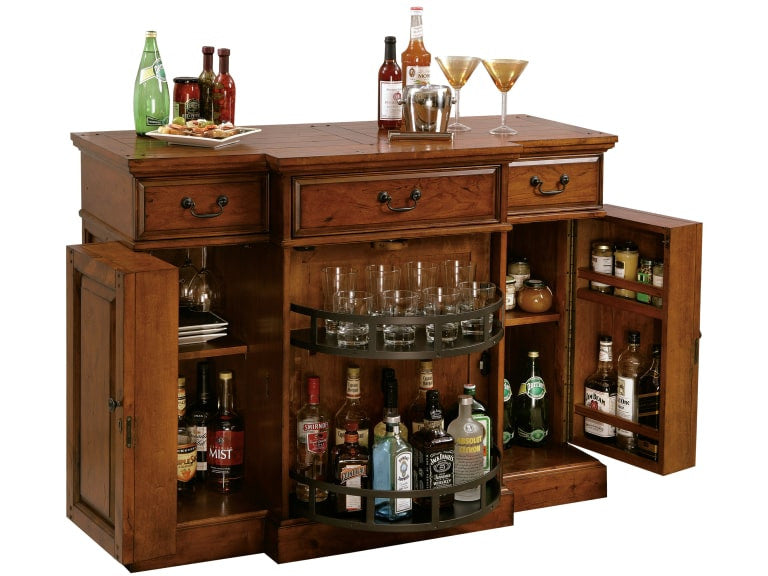 Howard Miller Shiraz Bar Console and Wine Cabinet - Perfect Home Bars