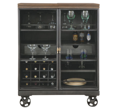 Howard Miller Shooter Wine & Bar Console Front View
