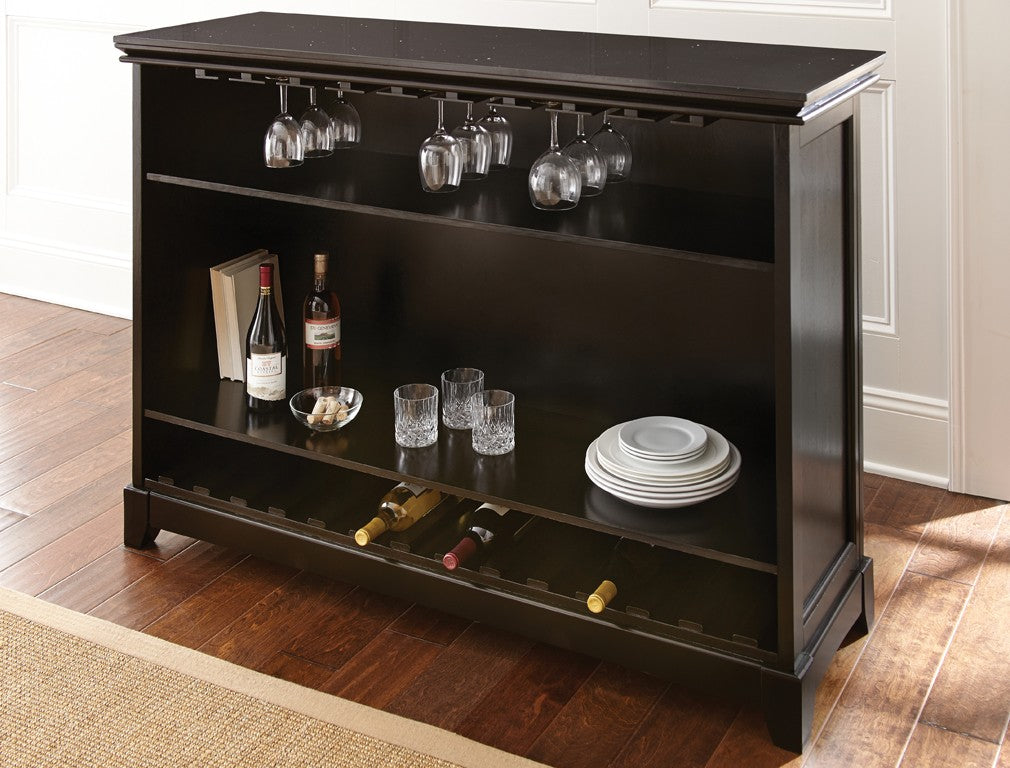 Steve Silver Garcia Bar w/Foot Rail - Bar Height - Perfect Home Bars