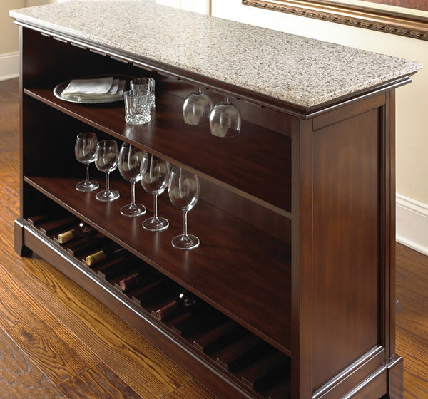 Steve Silver Newbury Bar w/Foot Rail - Perfect Home Bars