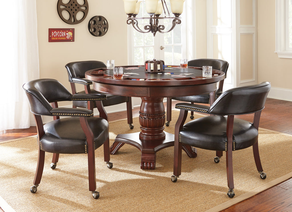 Steve Silver Tournament Captains Chair w/Casters Brown or Black - Perfect Home Bars