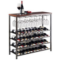 Winsome Michelle Wine Rack with Glass Hanger