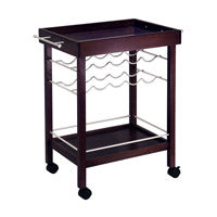Winsome Bar Cart, Mirror Top, wine rack - Perfect Home Bars