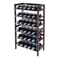 Winsome Silvi Wine Rack, 30-Bottle, - 6-Tier - Perfect Home Bars
