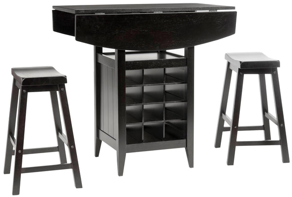 Emeric 3 PC Set Drop Leaf Pub Table Combo View