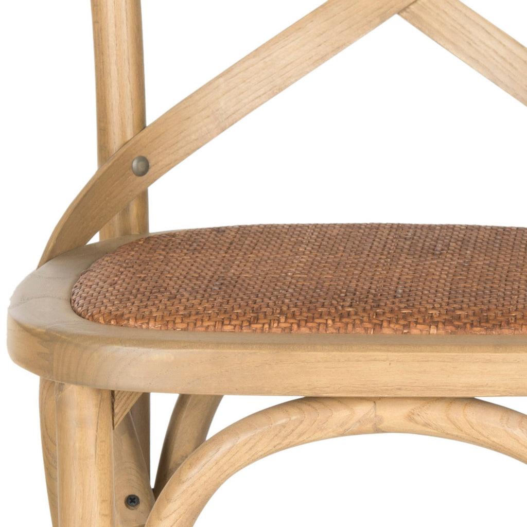 Safavieh Franklin X Back Counter Stool - Available in Ivory, Hickory, or Weathered Oak.