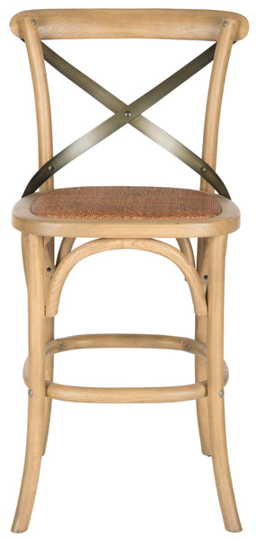 Safavieh Eleanor X Back Counter Stool Front View