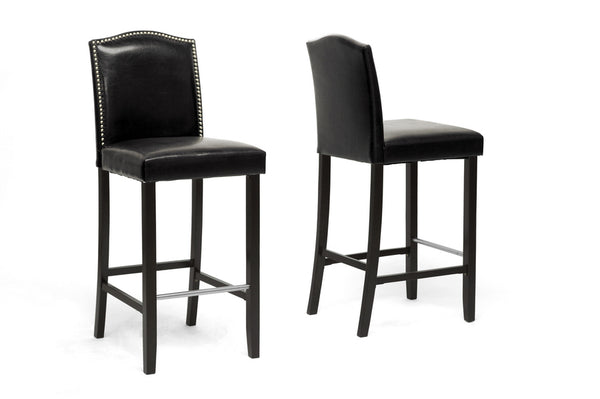 Libra Modern Bar Stool with Nail Head Trim (Set of 2)
