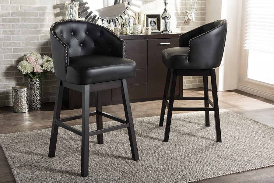 Avril Modern and Contemporary Swivel Bar Stool Live View