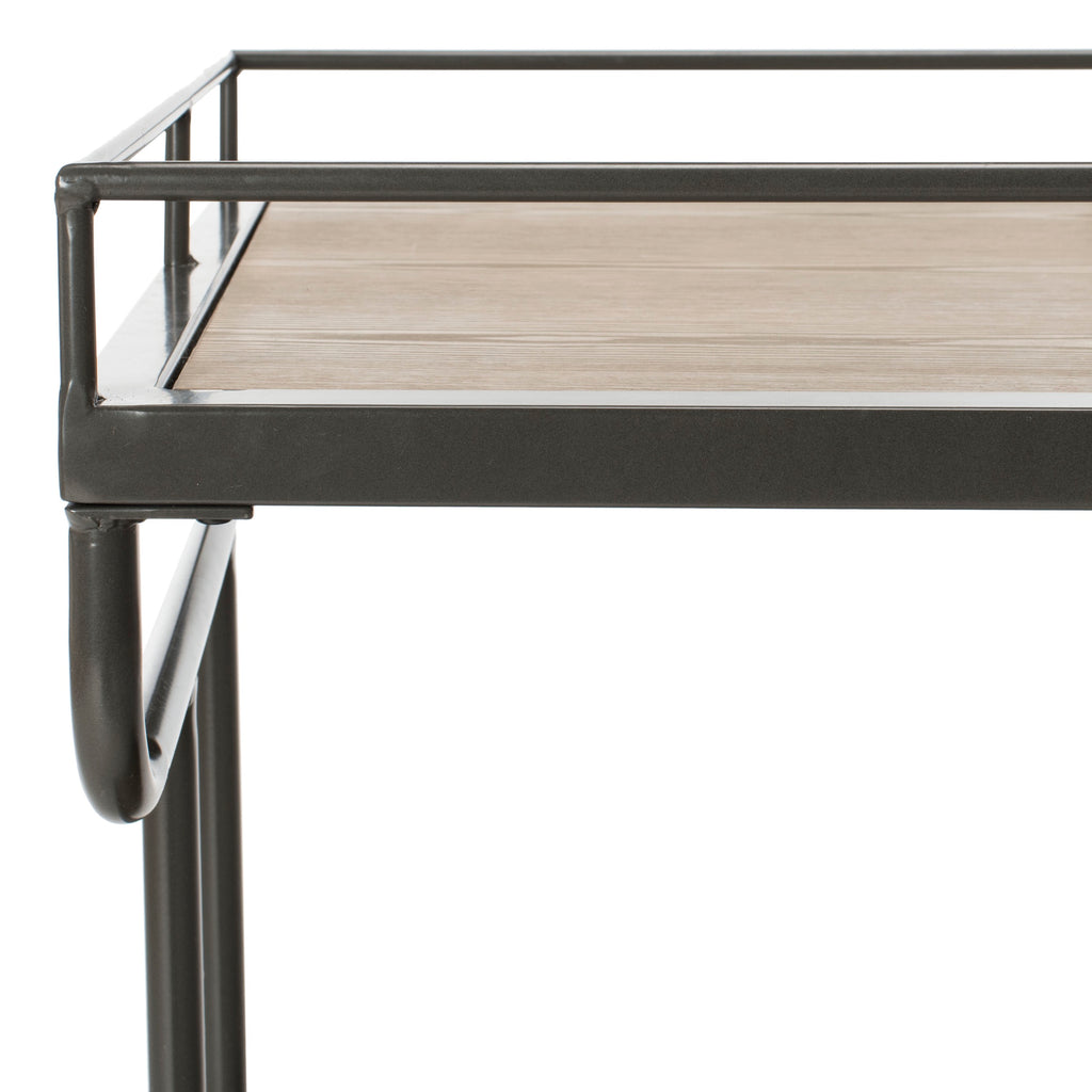 Dawson 2 Tier Rectangle Bar Cart Detailed Top View