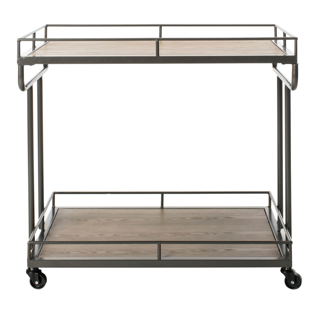 Dawson 2 Tier Rectangle Bar Cart Front View