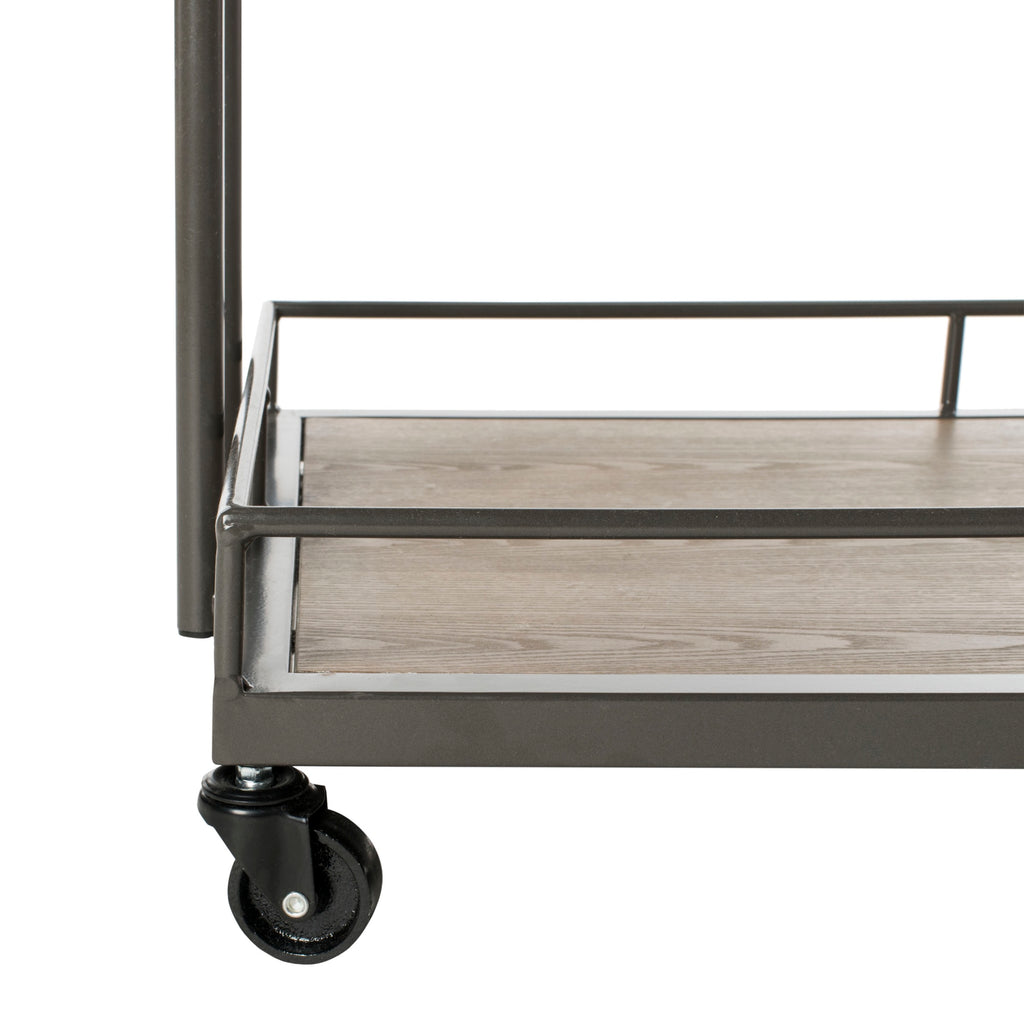 Dawson 2 Tier Rectangle Bar Cart Detailed Legs View