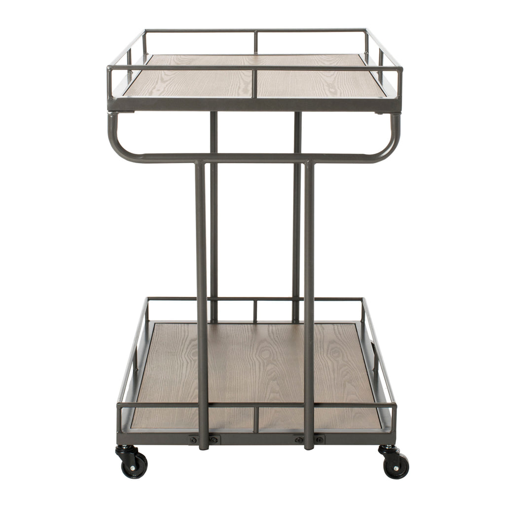 Dawson 2 Tier Rectangle Bar Cart Side View