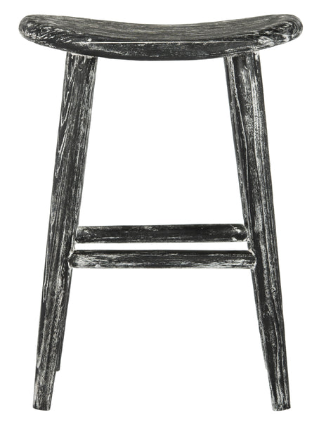 Colton Wood Bar Stool Front View
