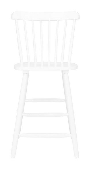 Safavieh Galena Counter Stool - White Front View
