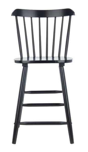Safavieh Galena Counter Stool - Black Front View